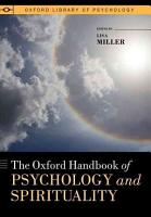 The Oxford Handbook of Psychology and Spirituality PDF