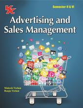 Advertising and Sales Management: for B.Com-III Semester V & VI