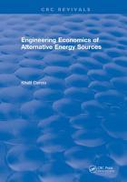 Engineering Economics of Alternative Energy Sources PDF
