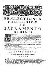 Praelectiones theologicae: de Sacramento Ordinis