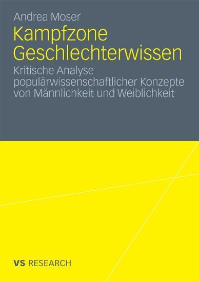 Kampfzone Geschlechterwissen PDF