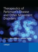 Therapeutics of Parkinson s Disease and Other Movement Disorders PDF