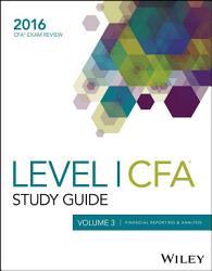 Wiley Study Guide For 2016 Level I Cfa Exam Book PDF