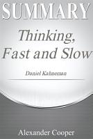 Summary of Thinking  Fast and Slow PDF