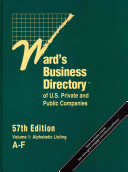 Ward s Business Directory of U  S  Private and Public Companies PDF
