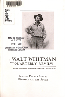Walt Whitman Quarterly Review PDF