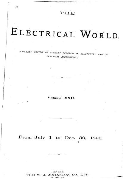 Download The Electrical World Book