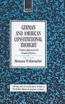 German and American Constitutional Thought