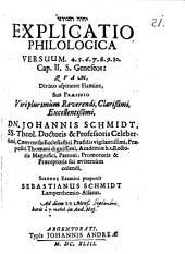 Explicatio philologica versuum 4. 5. 6. 7. 8. 9. 10. cap. II. s. Geneseos