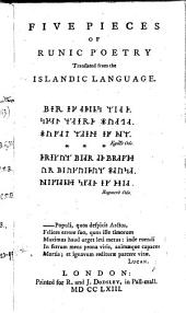 Five Pieces of Runic Poetry Translated from the Islandic Language
