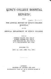 King's College Hospital Reports: Volume 7