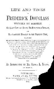 Life and Times of Frederick Douglass Book