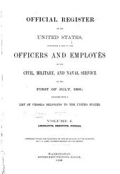Official Register of the United States: Containing a List of Officers and Employees in the Civil, Military, and Naval Service ..., Volume 1