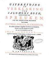 Verklaring van de geheele Heilige Schrift, door eenigen van de voornaamste Engelsche godgeleerden: Volume 16