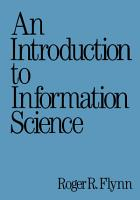 An Introduction to Information Science PDF