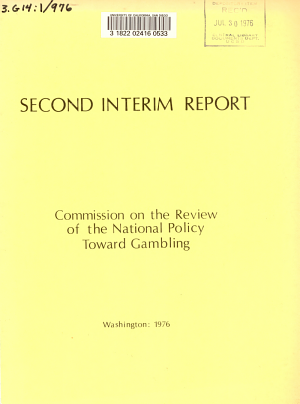 Second Interim Report of the Commission on the Review of the National Policy Toward Gambling PDF