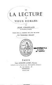 De la lecture des vieux romans
