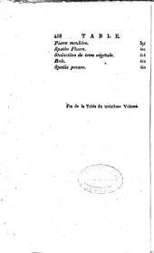 Histoire naturelle, generale et particulière: Sue, P. Tables analytiques et raisonnées des matières et des auteurs. 1808