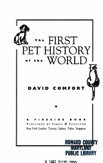 The First Pet History of the World