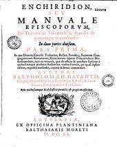 Enchiridion seu manuale episcoporum pro decretis in visitatione et synodo...auctore Bartholomaeo Gavanto