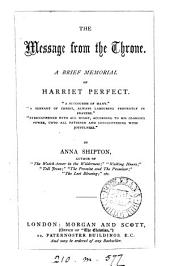 The message from the Throne, a memorial of H. Perfect