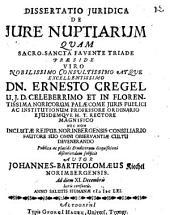 Diss. iur. de iure nuptiarum