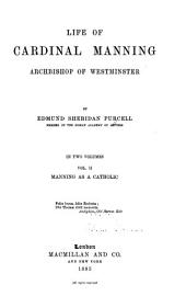 Life of Cardinal Manning, Archbishop of Westminster: Volume 2