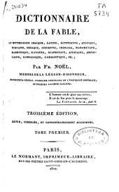 Dictionnaire de la fable ...