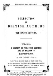 A History of the Four Georges and of William IV: Volume 1