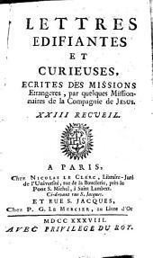 Lettres Édifiantes Et Curieuses: Écrites Des Missions Étrangères, Volume23