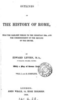Outlines of the history of Rome     to the Christian era PDF