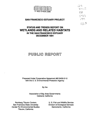 Status and Trends Report on Wetlands and Related Habitats in the San Francisco Estuary