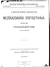 A Magyar korona országainak mezőgazdásagi statisztikaja