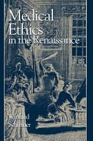 Medical Ethics in the Renaissance PDF