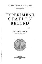 Experiment Station Record: Volume 32