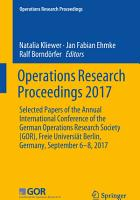 Operations Research Proceedings 2017 PDF