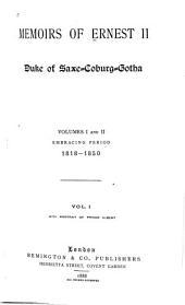 Memoirs of Ernest II: Duke of Saxe-Coburg-Gotha