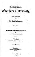 Gottfried Wilhelm Freiherr von Leibnitz  Eine Biographie  etc   PDF