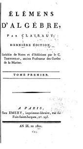 Élémens d'algébre: Volume1
