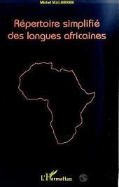 REPERTOIRE SIMPLIFIE DES LANGUES AFRICAINES