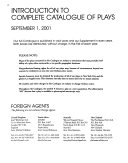 Complete Catalogue of Plays PDF