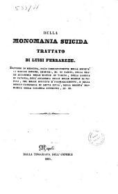 Della monomania suicida trattato di Luigi Ferrarese
