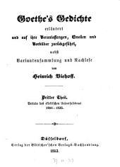 Goethe's Gedichte: erläutert und auf ihre Veranlassungen, Quellen und Vorbilder zurückgeführt, Band 3