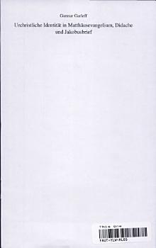 Urchristliche Identit  t in Matth  usevangelium  Didache und Jakobusbrief PDF