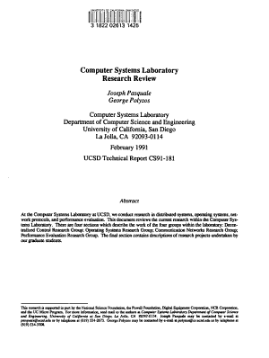 Computer Systems Laboratory Research Review PDF
