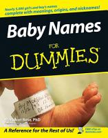 Baby Names For Dummies PDF