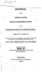 Journal Of The House Of Representatives Of The Commonwealth Of Pennsylvania Book PDF