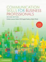 Communication Skills for Business Professionals PDF