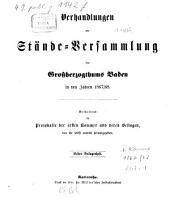 Verhandlungen der Stände-Versammlung des Großherzogtums Baden: in den Jahren .... 1867/68,Beil.1