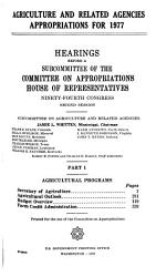 Agriculture and related agencies appropriations for 1977 PDF